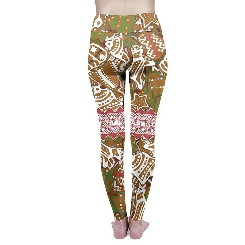 Gingerbread Treats High Waisted Leggings