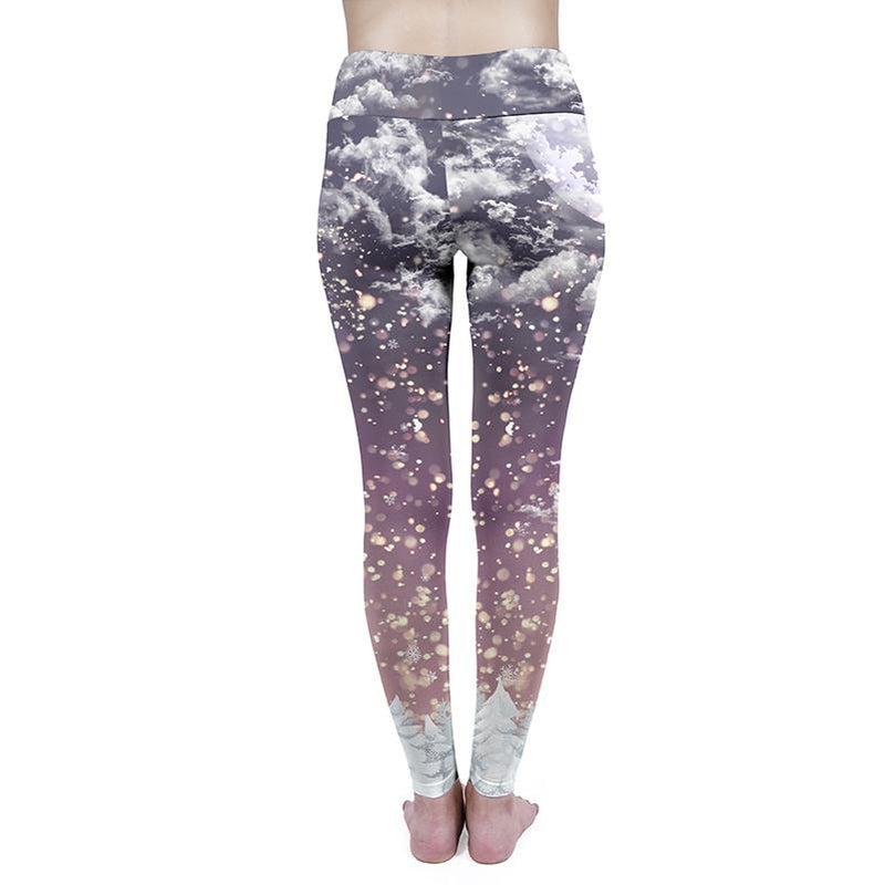 Santa Flight High Waisted Leggings-Kukubird Creative Studio