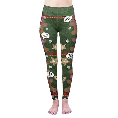 Cookies High Waisted Leggings-Wholesale Women's Leggings, Wholesale Plus Size , Wholesale Fashion Clothing