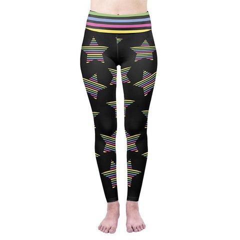 Party Stars High Waisted Leggings-Wholesale Women's Leggings, Wholesale Plus Size , Wholesale Fashion Clothing