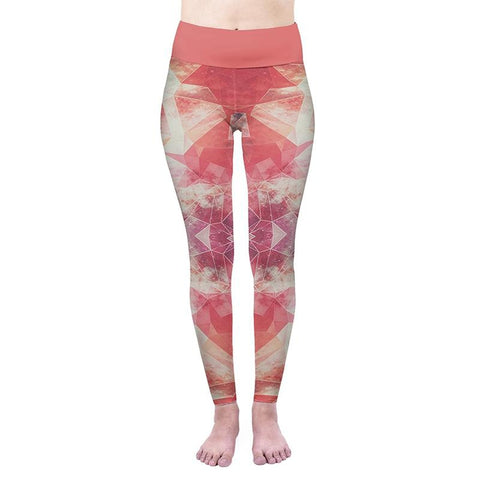 Pink Cosmos High Waisted Leggings-Wholesale Women's Leggings, Wholesale Plus Size , Wholesale Fashion Clothing