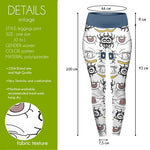 Starring Face Colour High Waisted Leggings-Wholesale Women's Leggings, Wholesale Plus Size , Wholesale Fashion Clothing