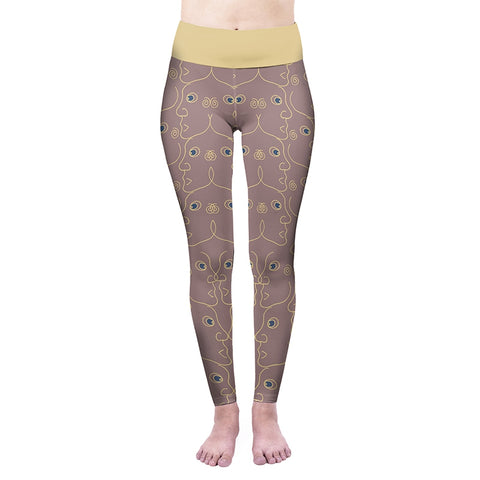 Face To Face High Waisted Leggings-Wholesale Women's Leggings, Wholesale Plus Size , Wholesale Fashion Clothing