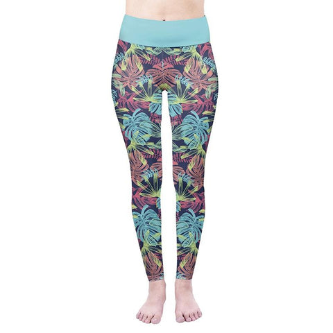 Colourful Tropicals High Waisted Leggings-Wholesale Women's Leggings, Wholesale Plus Size , Wholesale Fashion Clothing