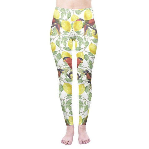 Tropical Lemons High Waisted Leggings-Wholesale Women's Leggings, Wholesale Plus Size , Wholesale Fashion Clothing
