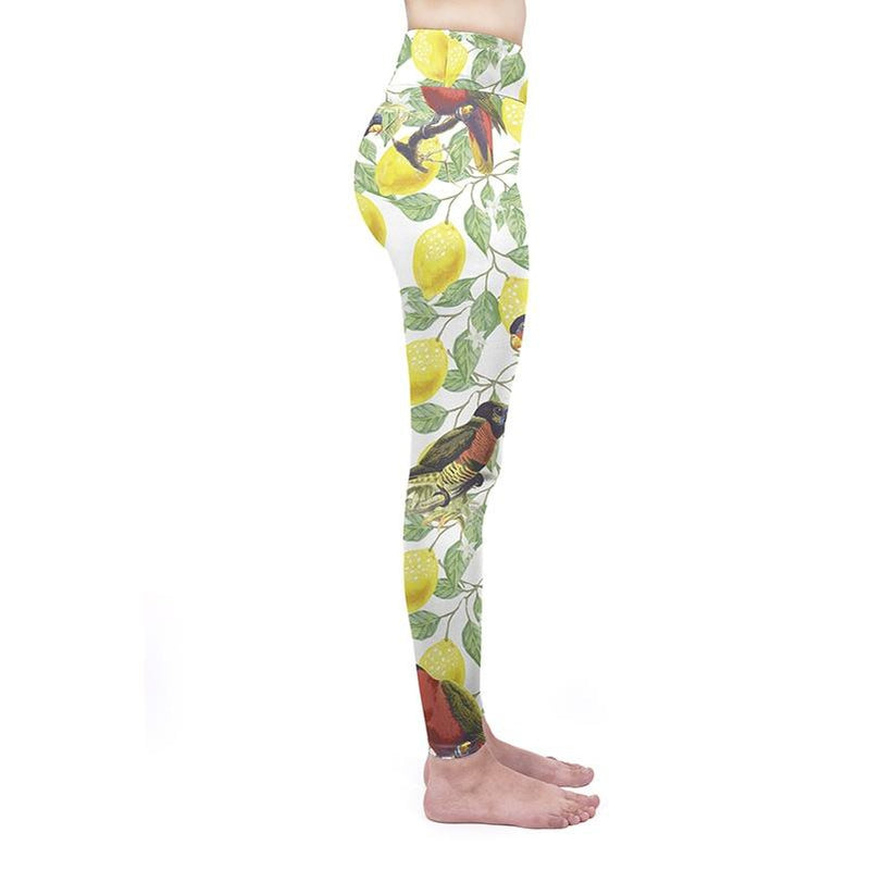 Tropical Lemons High Waisted Leggings