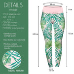 Watercolour Palms High Waisted Leggings-Wholesale Women's Leggings, Wholesale Plus Size , Wholesale Fashion Clothing