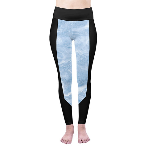 Blue Marble High Waisted Leggings-Wholesale Women's Leggings, Wholesale Plus Size , Wholesale Fashion Clothing