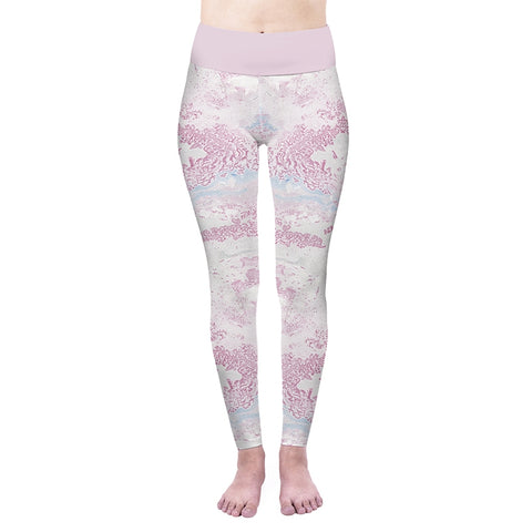 Pink Marble High Waisted Leggings-Wholesale Women's Leggings, Wholesale Plus Size , Wholesale Fashion Clothing