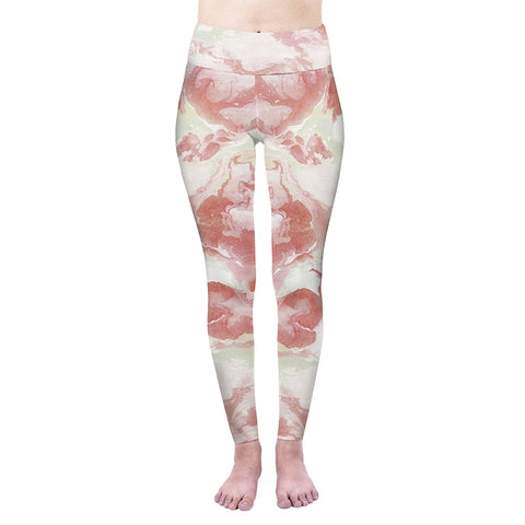 Rose Marble High Waisted Leggings-Wholesale Women's Leggings, Wholesale Plus Size , Wholesale Fashion Clothing