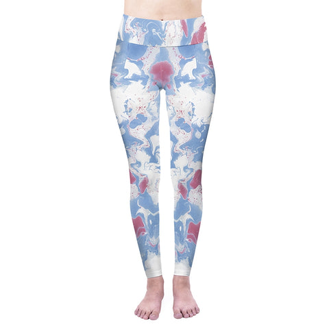 Marble Skies High Waisted Leggings-Wholesale Women's Leggings, Wholesale Plus Size , Wholesale Fashion Clothing