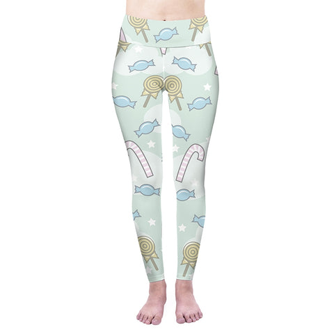 Sweet Candy High Waisted Leggings-Wholesale Women's Leggings, Wholesale Plus Size , Wholesale Fashion Clothing