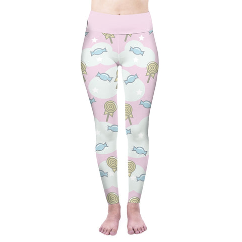 Sweet Candy Pink High Waisted Leggings-Wholesale Women's Leggings, Wholesale Plus Size , Wholesale Fashion Clothing
