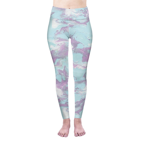 Purple Marble High Waisted Leggings-Wholesale Women's Leggings, Wholesale Plus Size , Wholesale Fashion Clothing