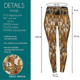 Golden Chains High Waisted Leggings-Wholesale Women's Leggings, Wholesale Plus Size , Wholesale Fashion Clothing