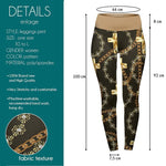 Black Golden Chains High Waisted Leggings-Wholesale Women's Leggings, Wholesale Plus Size , Wholesale Fashion Clothing