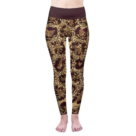 Leopard Double High Waisted Leggings-Wholesale Women's Leggings, Wholesale Plus Size , Wholesale Fashion Clothing