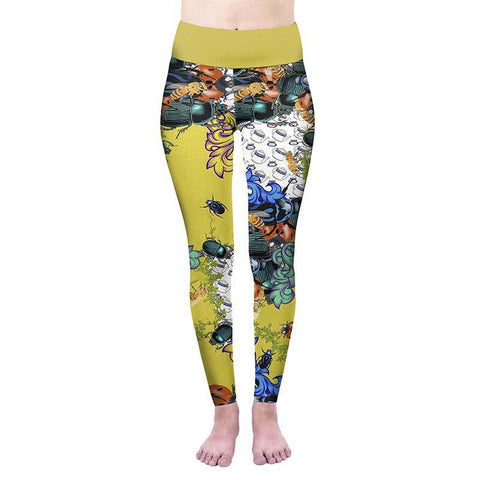 Bugs And Teacups High Waisted Leggings-Wholesale Women's Leggings, Wholesale Plus Size , Wholesale Fashion Clothing