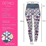 Linked Circles High Waisted Leggings-Wholesale Women's Leggings, Wholesale Plus Size , Wholesale Fashion Clothing