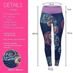 Paisley Orbs High Waisted Leggings-Wholesale Leggings UK- Wholesale Women's Clothing- Kukubird Creative Studio