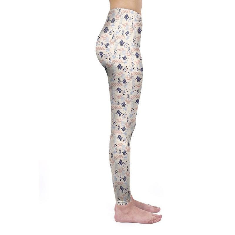 Pastel Dinosaurs Regular Leggings
