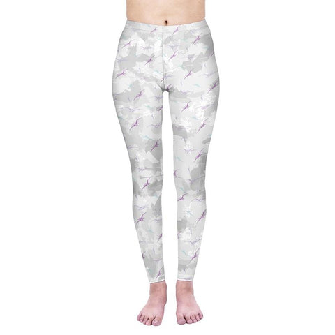 Pterodactyl Camo Regular Leggings-Wholesale Women's Leggings, Wholesale Plus Size , Wholesale Fashion Clothing