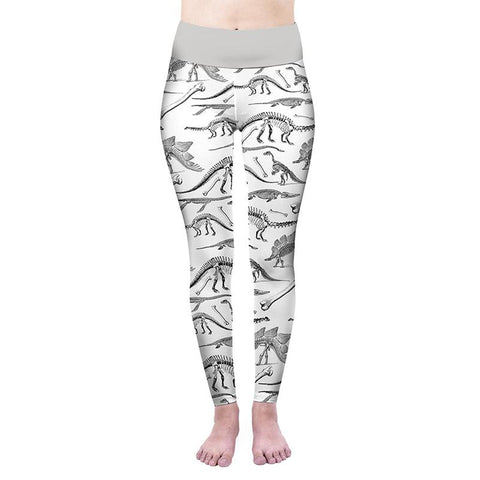 Dino Bones High Waisted Leggings-Wholesale Leggings UK- Wholesale Women's Clothing- Kukubird Creative Studio