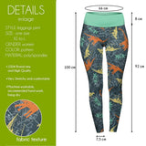 Friendly Dinosaurs High Waisted Leggings-Wholesale Women's Leggings, Wholesale Plus Size , Wholesale Fashion Clothing