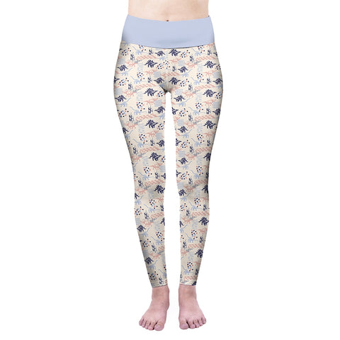 Pastel Dinosaurs High Waisted Leggings-Wholesale Women's Leggings, Wholesale Plus Size , Wholesale Fashion Clothing