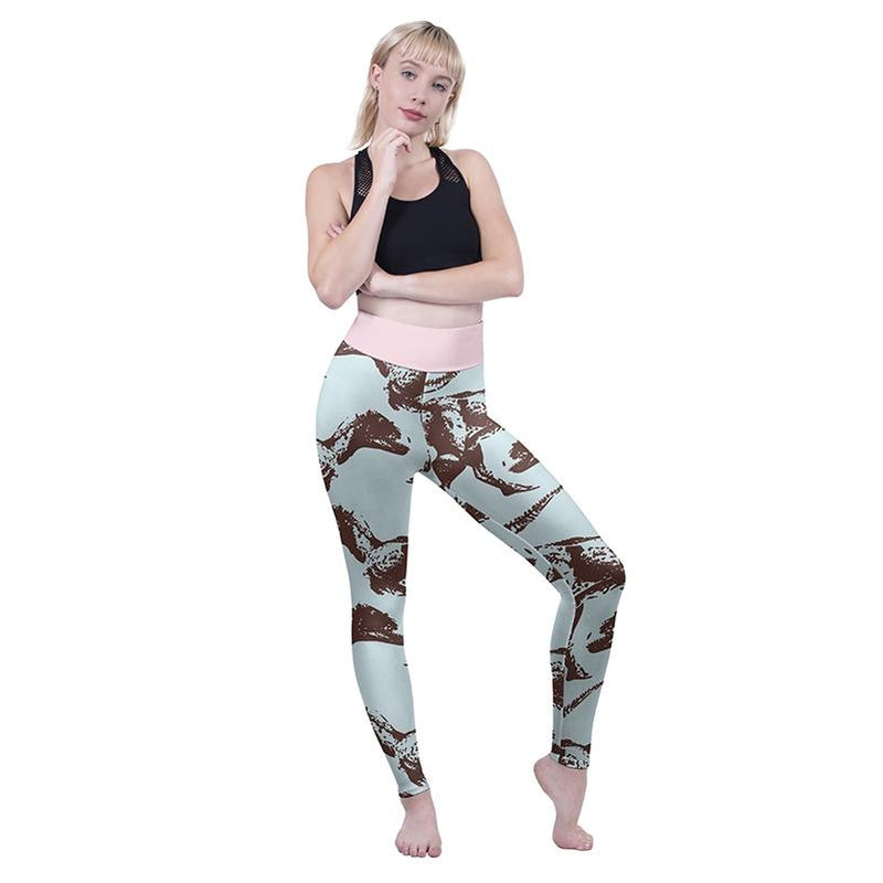 Walking With Dinos High Waisted Leggings-Kukubird Creative Studio