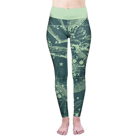 Capricorn High Waisted Leggings-Wholesale Leggings UK- Wholesale Women's Clothing- Kukubird Creative Studio