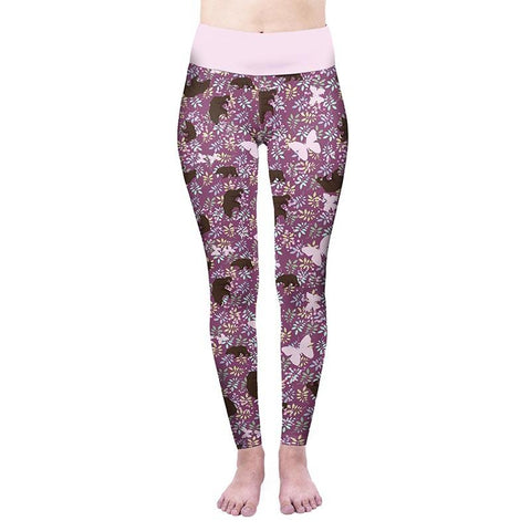 Bears Picnic High Waisted Leggings-Wholesale Women's Leggings, Wholesale Plus Size , Wholesale Fashion Clothing