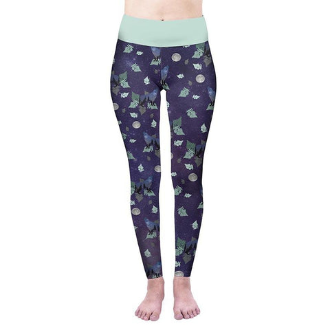 Howling Wonderland Prince High Waisted Leggings-Wholesale Women's Leggings, Wholesale Plus Size , Wholesale Fashion Clothing
