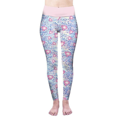 Party Pond High Waisted Leggings-Wholesale Women's Leggings, Wholesale Plus Size , Wholesale Fashion Clothing