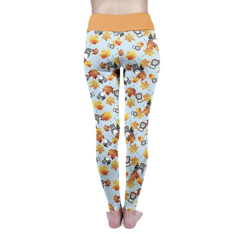 Raccoon And Friends High Waisted Leggings-Wholesale Leggings UK- Wholesale Women's Clothing- Kukubird Creative Studio