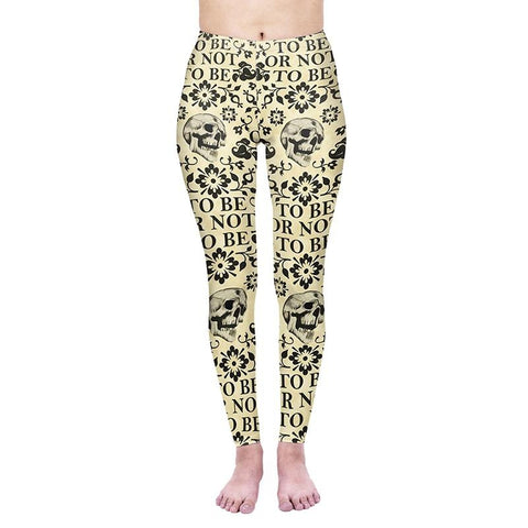 Shakespeare Regular Leggings-Wholesale Leggings UK- Wholesale Women's Clothing- Kukubird Creative Studio