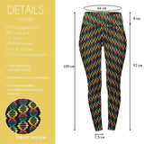 DNA Rainbow High Waisted Leggings-Wholesale Women's Leggings, Wholesale Plus Size , Wholesale Fashion Clothing