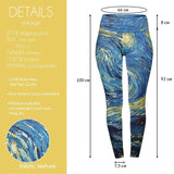 I Heart Van Gough High Waisted Leggings-Wholesale Women's Leggings, Wholesale Plus Size , Wholesale Fashion Clothing