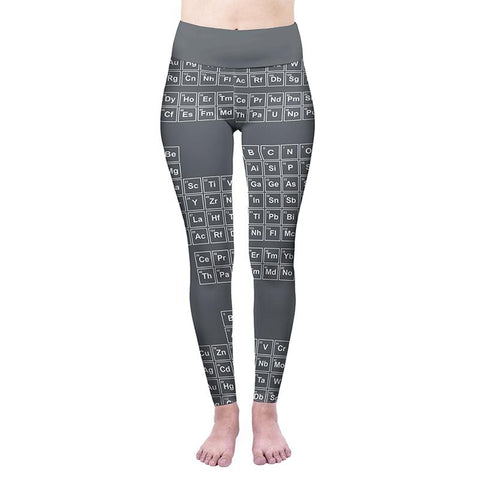 Periodic Table High Waisted Leggings-Wholesale Women's Leggings, Wholesale Plus Size , Wholesale Fashion Clothing