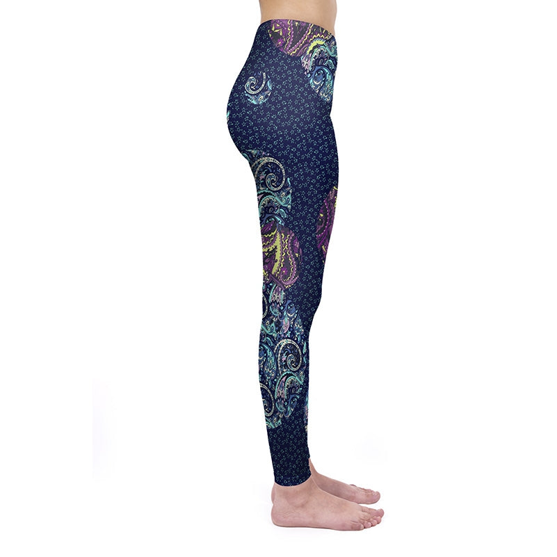 Paisley Orbs  Regular Leggings
