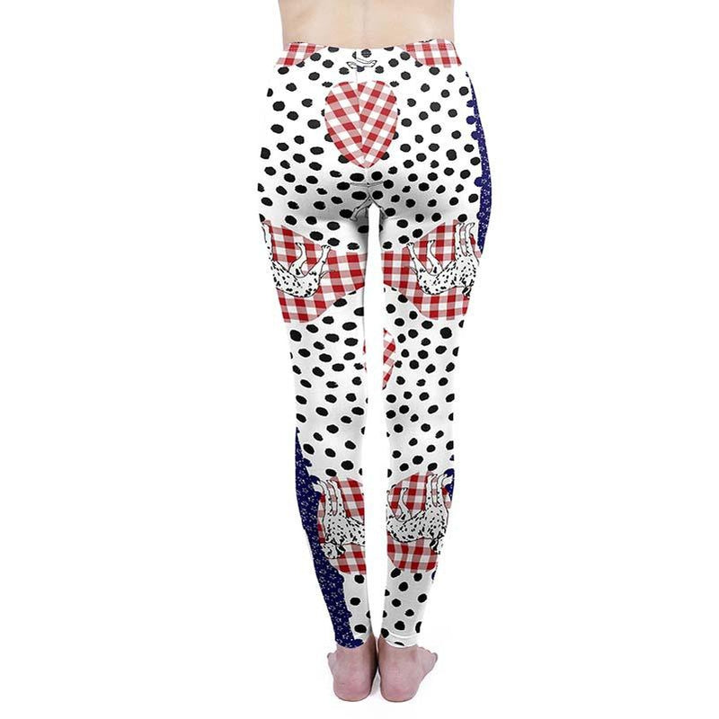 Spot The Dalmatian Regular Leggings-Kukubird Creative Studio