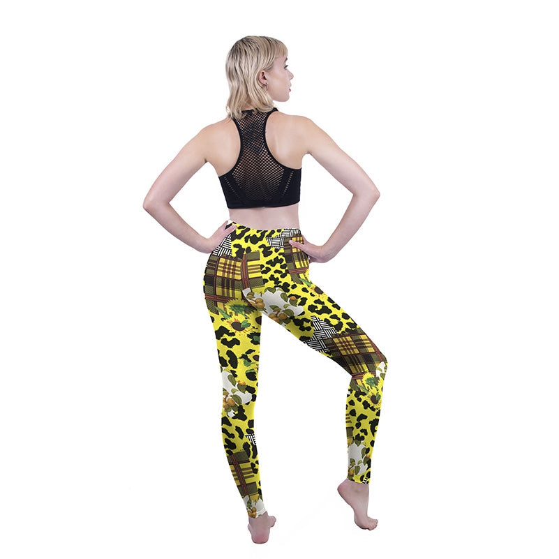 Sunflower Leopard Regular Leggings