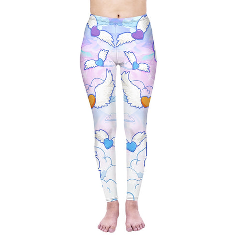 Flying Hearts Regular Leggings-Wholesale Women's Leggings, Wholesale Plus Size , Wholesale Fashion Clothing