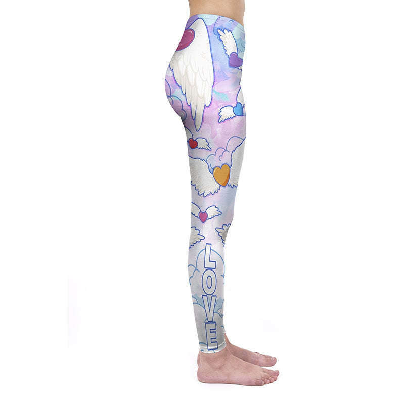 Flying Hearts Regular Leggings