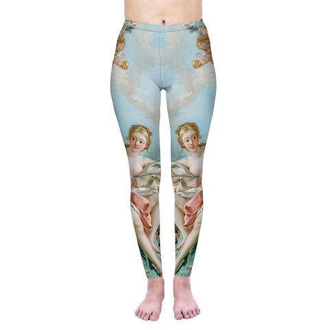 Venus on the Waves Regular Leggings-Wholesale Women's Leggings, Wholesale Plus Size , Wholesale Fashion Clothing