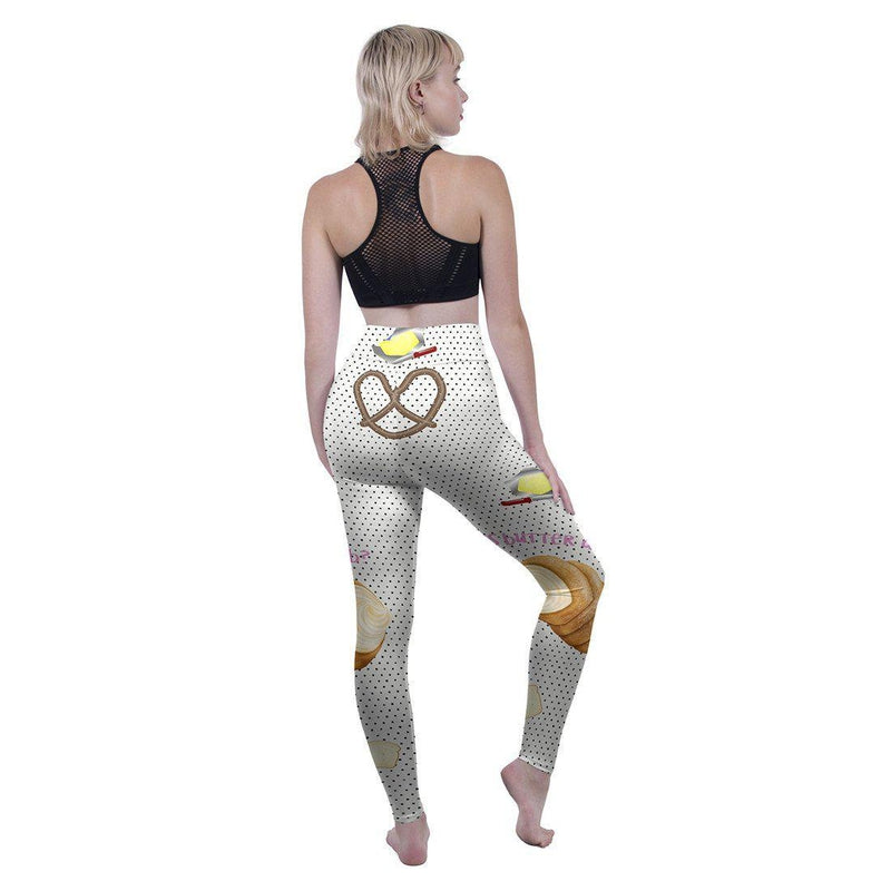 Is Butter A Carb High Waisted Leggings-Wholesale Leggings UK- Wholesale Women's Clothing- Kukubird Creative Studio