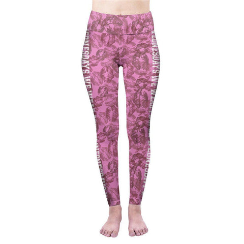 On Wednesday We Wear Pink High Waisted Leggings-Wholesale Women's Leggings, Wholesale Plus Size , Wholesale Fashion Clothing