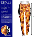 Fucking Love Pizza Regular Leggings-Wholesale Women's Leggings, Wholesale Plus Size , Wholesale Fashion Clothing