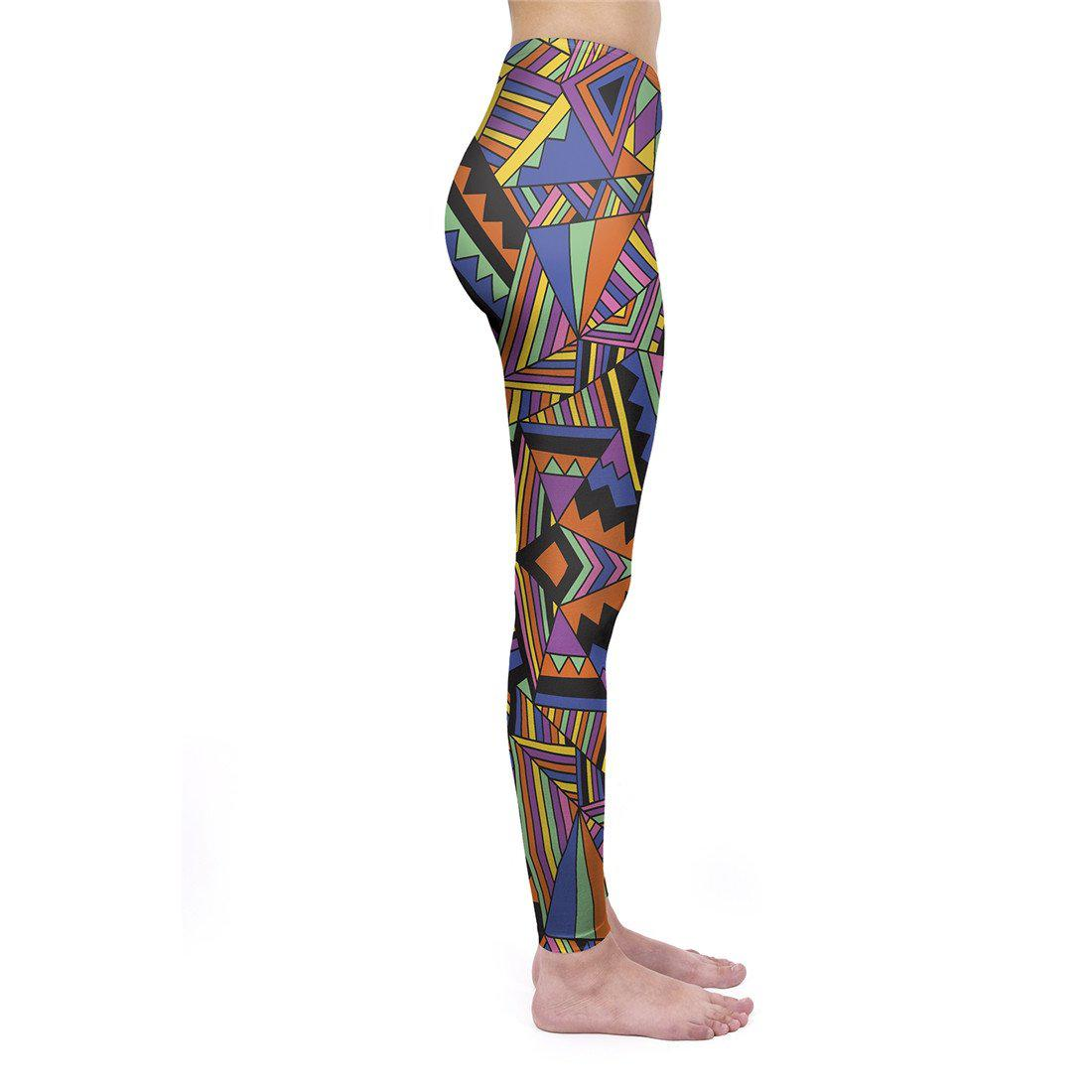 Block Geo Tribal Regular Leggings