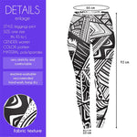 Monochrome tribal Regular Leggings-Wholesale Women's Leggings, Wholesale Plus Size , Wholesale Fashion Clothing